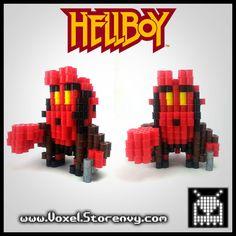 Hellboy Red 3D Voxel Perlerbead (Hellboy) - Thumbnail 3