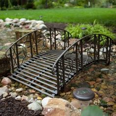Coral Coast Willow Creek 4-ft. Metal Garden Bridge