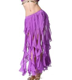 Amazon.com: Feimei Women's Belly Dance 16PCS-Curling Skirt Black: Clothing