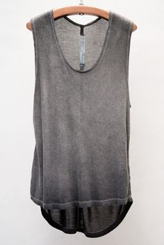 Heist / Raquel Allegra Dark Wash Sleeveless Tee