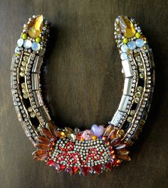 LOVE Beaded Horseshoe by Betsy Youngquist by betsyyoungquist