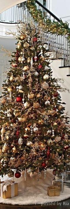 ➶ ➶ The Joy of Christmas {Noel} ➶ ➶ Christmas Scenes, Noel Christmas, All Things Christmas, Father Christmas, Beautiful Christmas Trees, Elegant Christmas, Xmas Tree, Christmas Tree Decorations, Holiday Fun