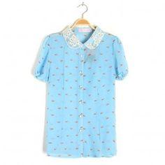 Short Sleeves Chiffon T-shirts