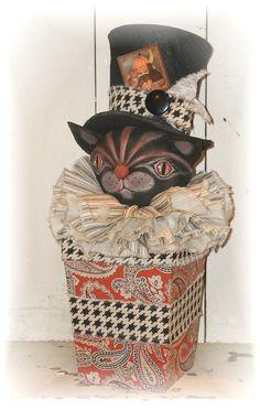 Halloween cat trick or treat box