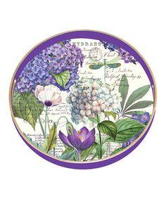 Hydrangeas Round Tray #zulily #zulilyfinds