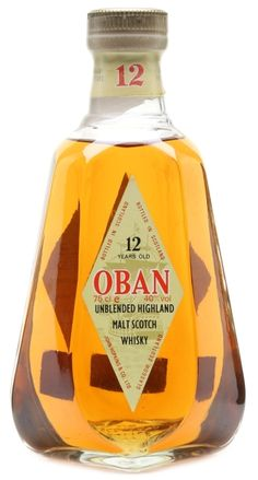 Oban 12 yo Unblended Highland Malt Scotch whisky - official bottling from 80s