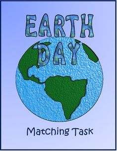 Earth Day matching activity