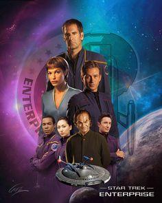 Star Trek Enterprise, Star Trek Voyager, Star Trek Cast, Star Trek Show, Star Trek Posters, Star Wars Poster, Star Trek Images, Star Wars Pictures, Star Trek Discovery Cast