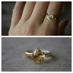 Citrine ring in 14kt gold & sterling silver by ATELIER Gaby Marcos