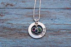 Moms Little Necklace. Cute personalized necklace! Add birthstones or other gems. #necklace #mothersday #jewelry Mother's Day Jewelry