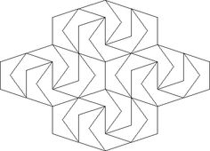 Tesselating shapes - can be used as a 'skeleton' to create / support a repeat textile pattern Tessellation Art, Tesselations, Gypsum, Types Of Art, Textile Patterns, Coloring Sheets, Graphic Design Inspiration, Skeleton, Bing Images