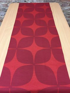 Table Runner Red With Dark Red, Modern Style, Great Gift