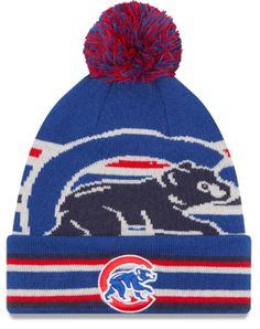 2878c2b4a Chicago Cubs Strike Through Cuffed Knit Hat by New Era  ChicagoCubs  Cubs   FlyTheW