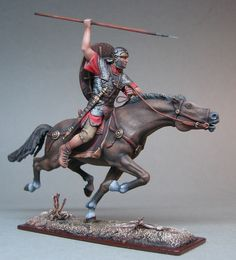 Roman soldier on horseback. Roman Soldiers, Toy Soldiers, Ancient Rome, Ancient History, Sparta Warrior, Rome Antique, Roman Legion, Military Figures, Roman History