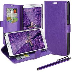 Galaxy Note 4 Case, LK [Kickstand Feature] Samsung Galaxy Note 4 Luxury Wallet PU Leather Case Flip Cover Built-in Card Slots & Stand with Free Stylus Pen (Leather Case Purple) LK http://www.amazon.com/dp/B00MVM8YIK/ref=cm_sw_r_pi_dp_8kqPub0B80WG1