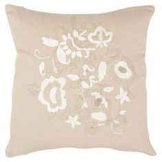 Adorned with elegant floral details, this cotton sateen pillow brings a lovely touch to your settee or bed.   Product: Set of 2 ...