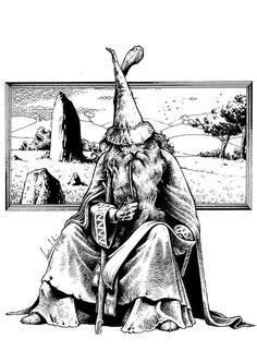 Gandalf smoking his pipe Jrr Tolkien, Character Sketches, Character Portraits, Fantasy Wizard, Fantasy Art, Mago Tattoo, Wizard Tattoo, O Hobbit, Narnia