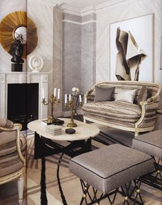 Jean Louis Deniot always gives us distinct interior design ideas. The work of maximalist French interior designer Jean-Louis Deniot is easy to spot: luxurious, Inspiration Design, Interior Inspiration, Jean Louis Deniot, Interior Decorating, Interior Design, French Interior, Beautiful Interiors, Living Room Interior, Home And Living