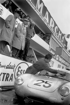 Le Mans 1958. Ferry Porsche in the pits.