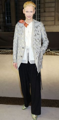 Look of the Day - Tilda Swinton  - from InStyle.com