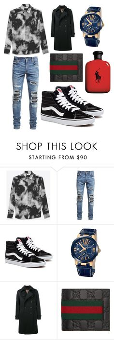 """""""Men's going out"""" by tucks340 ❤ liked on Polyvore featuring Yves Saint Laurent, AMIRI, Ulysse Nardin, Sealup, Gucci, John Lewis, men's fashion and menswear"""