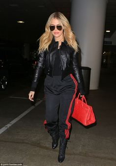 Making it work: Khloe Kardashian jetted off to Cleveland, Ohio to visit her boo, Tristan T...