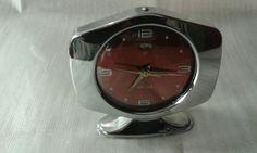 Orologio vintage China, carica nanuale suoneria, metallo e acciaio