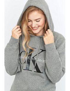 calvin-klein-jeans-grey-logo-hoodie by calvin-klein. #outfit #newfashion #fashionable #beautiful #shoptagr
