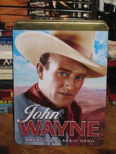 JOHN WANYE AMERICA'S CLASSIC HERO 3 DISC (DVD, 1930/2009, METAL TIN, WESTERN)