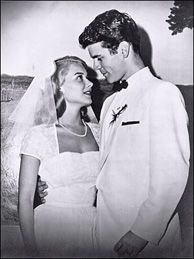 Hope Lange and 1st husband actor Don Murray, on their wedding day, 1956