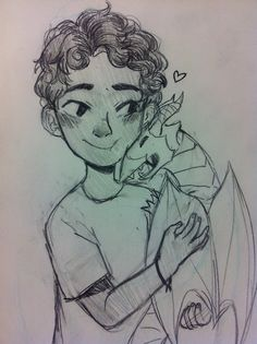 Baby Leo Valdez and Festus // omg this is the most adorable thing ever I wish this happened...