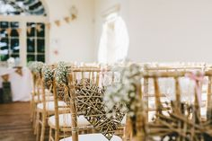 Wicker Heart Gypsophia Chair Pew Ends Ceremony Aisle Romantic Rustic Pink Wooden Wedding http://storry.co.uk/
