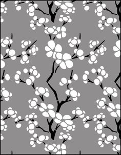 Cherry Blossom Stencil Outline Wallpapers Cherry Blossom stencil
