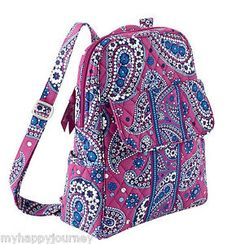 Vera Bradley Small Backpack Bag Purse Boysenberry Purple Blue