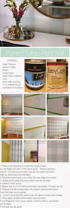 How to Paint a Buffalo Plaid Pattern/ Updating Your Entryway Blog | True Value - Start Right Start Here