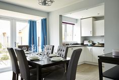 Bowbrook Meadows Morpeth dining area leading to the fitted kitchen