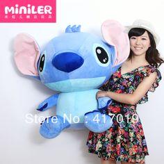 Free shipping Plush toy Animals doll Shi Dizi explosion hot oversized erect-eared LILO and stitch pillow(China (Mainland))
