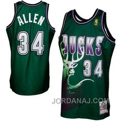 71396ef384c Place an order for Mitchell & Ness Ray Allen Milwaukee Bucks Hardwood  Classics Throwback Authentic Jersey - Green today and enjoy fast flat-rate  shipping ...