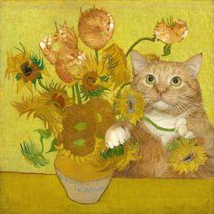 Vincent van Gogh, Sunflowers are ginger kittens / Винсент Ван Гог, Подсолнухи — это рыжие котята Vincent van Gogh, Sunflowers are ginger kittens Ginger Kitten, Ginger Cats, Vincent Van Gogh, Fat Cats, Cats And Kittens, Kitty Cats, Funny Kitties, Adorable Kittens, Little Kittens