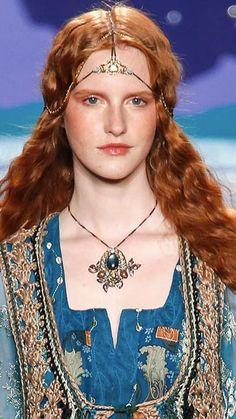 Erickson Beamon necklace and headpiece for Anna Sui, Spring 2014
