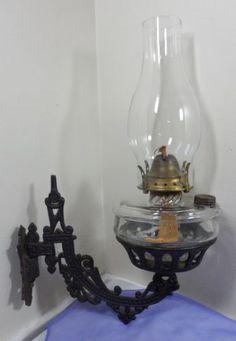 Antique Victorian Cast Iron Miller Venus Burner OIL Lamp Light Wall Mount Sconce | eBay $170