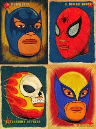 poster vintage of lucha libre