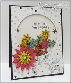 Blog Hop Shake Your Booty with Shaker Card Ideas on Create with Connie and Mary this week!  I used Grateful Bunch and the new Blossom Builder Punch for the confetti, along with Brights Sequins, Stampin' Up!, #stampinup, #occasions2016, created by Connie Babbert, www.inkspiredtreasures.com