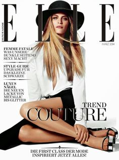 ELLE Germany March 2014 | Frankie Rayder