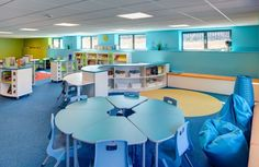 'The Sithara' library at Lidget Green Primary School near Bradford. Design and Furnishings: Demco Interiors.