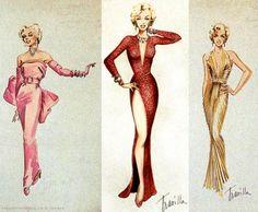 William Travilla's (professional name: Travilla) costume designs for Gentlemen Prefer Blondes