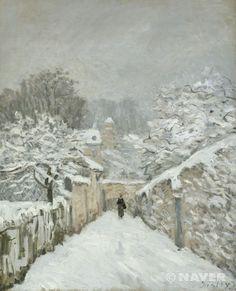 눈 내린 루브시엔느 (La neige à Louveciennes)  알프레드 시슬레(Alfred Sisley)