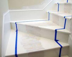 Remodelaholic | Beautiful Painted Stair Runner