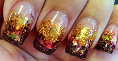 Got my nails did today, a Fall theme! Babette 10-17-2013