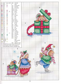 Christmas Mice- I have this original, just pinning to remind me to do it up this year